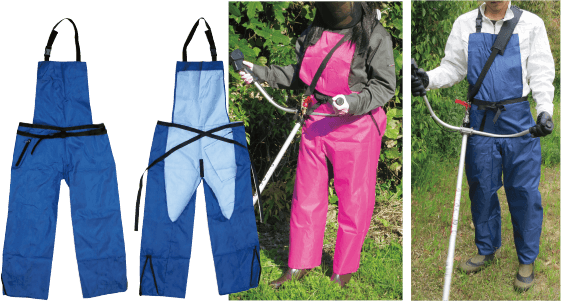 Water proof pants style Working apron (blue/pink)