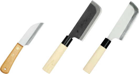 Harvest knives for cabbage and Chinese lettuce
